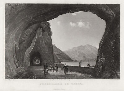 COMER SEE Lombardia VARENNA Original Stahlstich Griffiths 1839