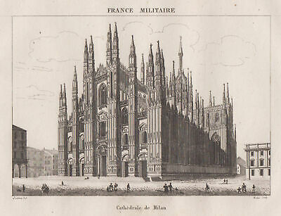 MAILAND Lombardia Original Stahlstich Dom France Militaire 1835