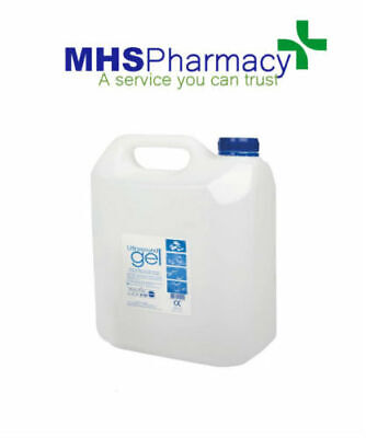 PSUK Ultrasound Gel 5 Litres Clear WATER SOLUBLE HYPOALLERGENIC EE1299