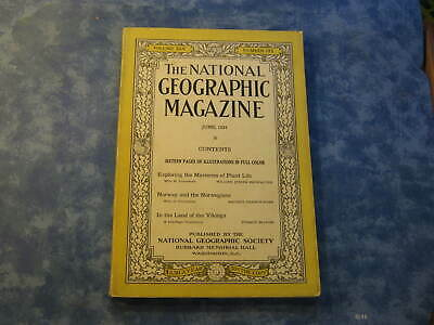 ANTIQUE NATIONAL GEOGRAPHIC June 1924 PLANT LIFE MYSTERIES Norway VIKINGS LAND