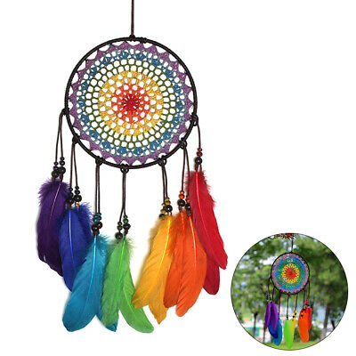 Large Handmade Boho Dream Catcher Home Wall Hanging Feather Capture Dream Net