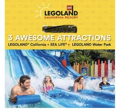 4 LEGOLAND® California 1 Day Resort Hopper(Ages 3+)ALL 3 RESORTS Use by 11/19/19