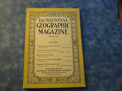 ANTIQUE NATIONAL GEOGRAPHIC March 1924 LAND OF ICE Moon Craters WILD AUSTRALIA