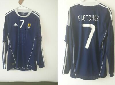 Scotland Home National Team Shirt 2010/2011 Fletcher 7 Jersey