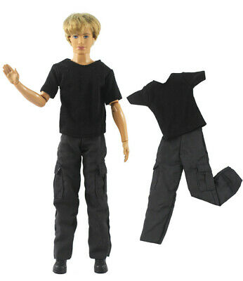 2 Pcs Set Dll Clothes/Outfit/Top+pants For 12 inch Ken Doll Clothes B56