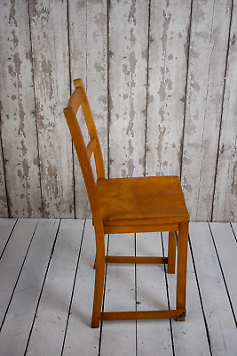Vintage Beech And Elm Chapel Church Cafe Bar Kitchen Chairs