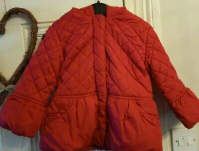 Girls School Coat Age 3-4 Mini Club Boots Burgundy Red wine Quilted warm Winter