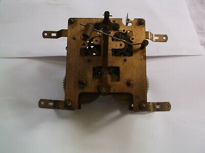 Mechanism  From An Old  Wall Clock Working Order Ref V 128