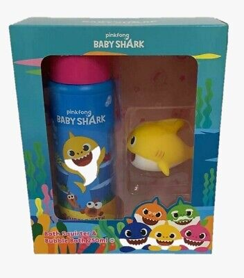 Baby Shark Bath Duo Set Squirter & Bubble Bath Pinkfong Christmas Gift Set