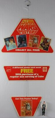 Vintage 1978 Burger King/Coca-Cola Star Wars Free Poster Display C-3PO R2-D2 NM+