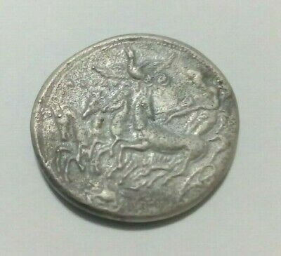 Greek-Macedonia Ancient Coin Tethrippos-Victory Wreth.silver.45Bc.very Rare.