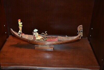 Vintage VENETIAN GONDOLA HAND MADE AND CARVED WOOD