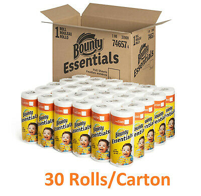 """Bounty Essentials 2-Ply Paper Towels, 11"""" x 10.2"""", 40 Sheets/Roll, 30 Rolls/CT"""