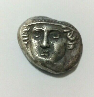 GREEK-MACEDONIA ANCIENT COIN ENIOS-GOAT.SILVER 16.1gr 450BC.VERY RARE.