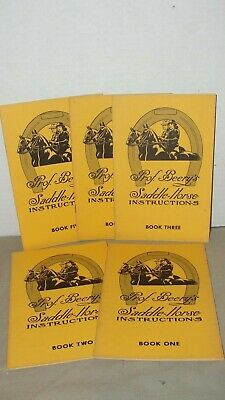 1963 - Prof. Beery's  Saddle Horse Instructions -  5 Book Series