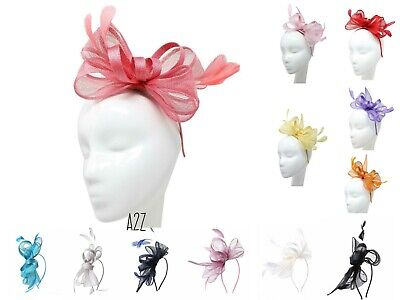 Elegant Headband & clip Fascinator Hat Wedding Race Royal Ascot Ladies Day Party
