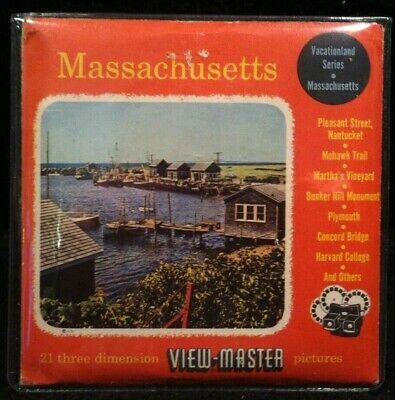 Vintage View-Master Reels Set ~ Massachusetts ~ Martha's Vineyard, Harvard...