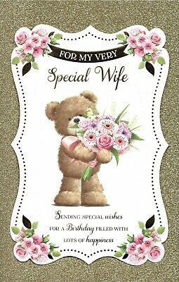To My Very Special WIFE - FABULOUS LARGE BIRTHDAY CARD With 8 PAGE INSERT