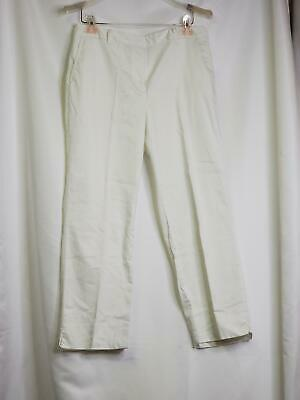Charter Club Katherine Fit Womens Pants Sz 10 White Stretch Flat Front Cropped