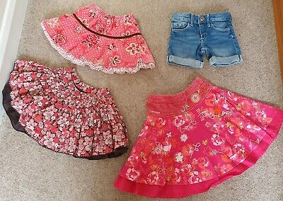 Baby Girl clothes bundle age 18 months (18-24) 3 skirts inc darcy brown & h&m