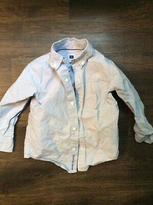Janie & Jack Baby Toddler Boys 18-24 Light Blue Oxford Button Down Shirt Euc