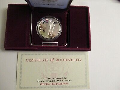 1995 S Olympics Proof Half Dollar Baseball 50c US Mint Coin w// Box COA Sleeve