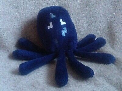 "Minecraft Ink Squid Animal Plush Soft Toy 7"" Computer Games Collectable Sealife"