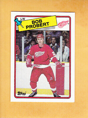 Bob Probert 1988 89 Topps Rookie # 181 Detroit Red Wings Near Mint ** See Scans*