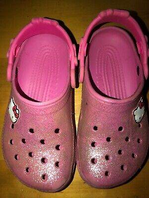Crocs Shoes Girls Size 10-11 Pink Hello Kitty