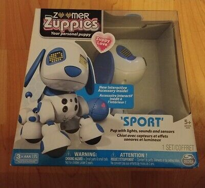 ZOOMER ZUPPIES SPORT Puppy Robot Dog Toy Electronic Moving Responsive