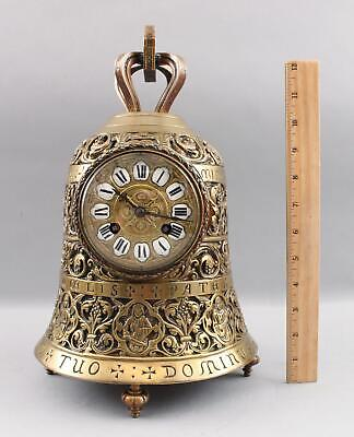 Large Antique 19thC French Cast Bronze Bell Shaped Mantle Clock