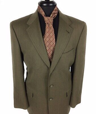 Austin Reed Mens Avacado Green Size 42R 3 Button Suit