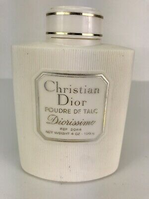 Vtg Christian Dior Diorissimo Dusting Powder Poudre De Talc - 4 oz 1/2 full
