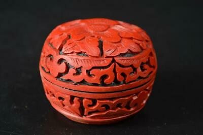 U444: Chinese Resin Flower Arabesque sculpture INCENSE CONTAINER Tea Ceremony