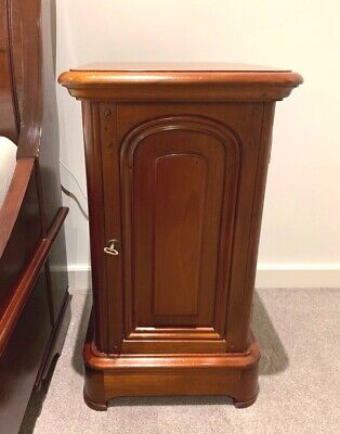Beautiful French Style Bedside Tables Cupboards Pair SOLID Mahogany  - Melbourne