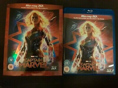 Captain Marvel 2019 2D Blu-ray ONLY All Region from 3D set (No 3D!) Please read
