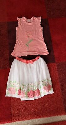 Mayoral Girls Flower Skirt Set age 9