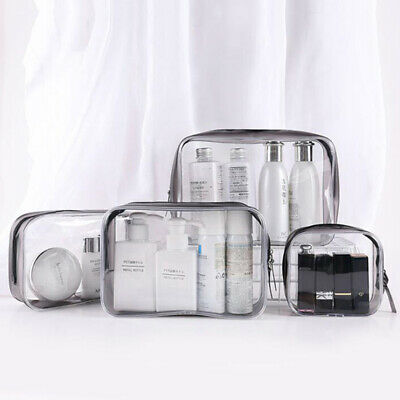 Waterproof transparent cosmetic bags storage pouch makeup case toiletry bag .