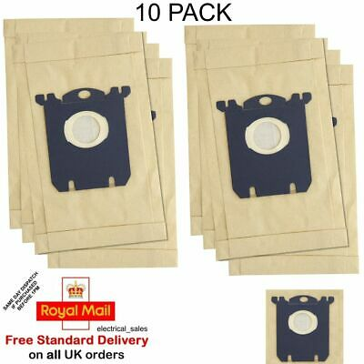 FITS PHILIPS ZANUSSI ELECTROLUX VACUUM CLEANER S CLASS HOOVER DUST BAGS x 10