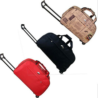 """23"""" Rolling Duffle Trolley Bag Travel Tote Carry-On Luggage Wheeled Suitcase"""