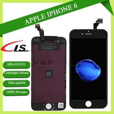 Touch Screen Frame Vetro Lcd Display Retina Schermo Per Apple Iphone 6 Nero 6G