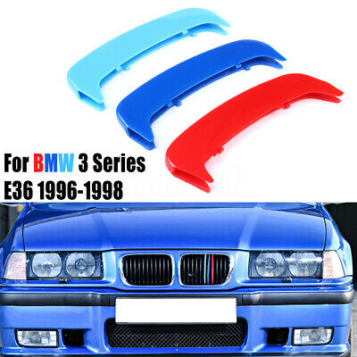 3 Colour For BMW 3 Series E36 1996-1998 Kidney Grille Gill Cover Stripe Clips