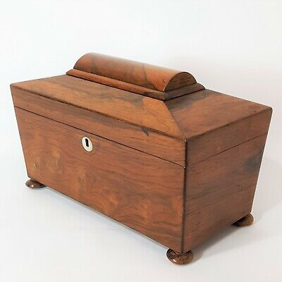Rosewood Sarcophagus Tea Caddy c1840