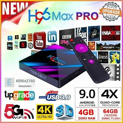 US/EU H96 MAX RK3318 Smart TV BOX 4K Android 9.0 4GB 64GB Quad Core Media Player