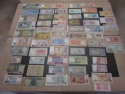 Lot 60  Billets Du Monde Entier Tous Differents Ideal Pour Debuter  Lot B