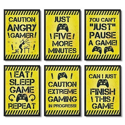 Gaming Prints Boys Bedroom Gaming Accessories Games Room Wall Art Christmas Gift