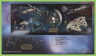 G.B. 2015 Star Wars M/S on Royal Mail First Day Cover, Tallents House