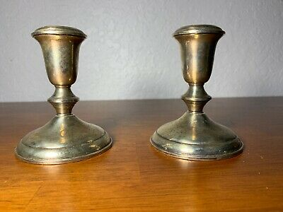 Towle Sterling Silver Candle Holders 730