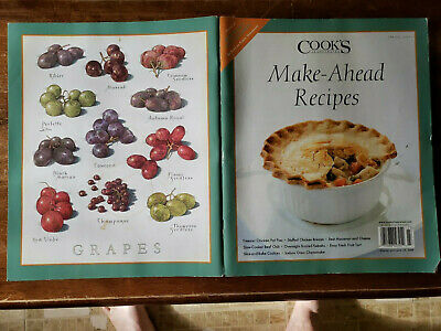 Cook's Illustrated Make-Ahead Recipes Spring 2009 Home of America's Test Kitchen