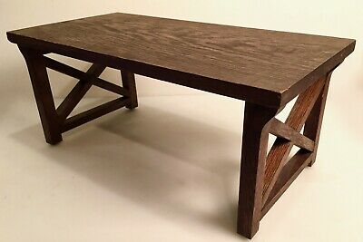 Antique Arts & Crafts Mission Oak Folding Tray Table